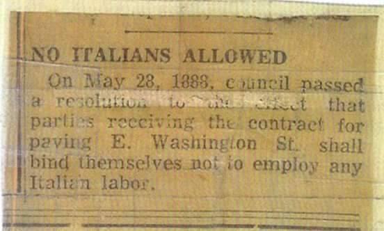 Italians No