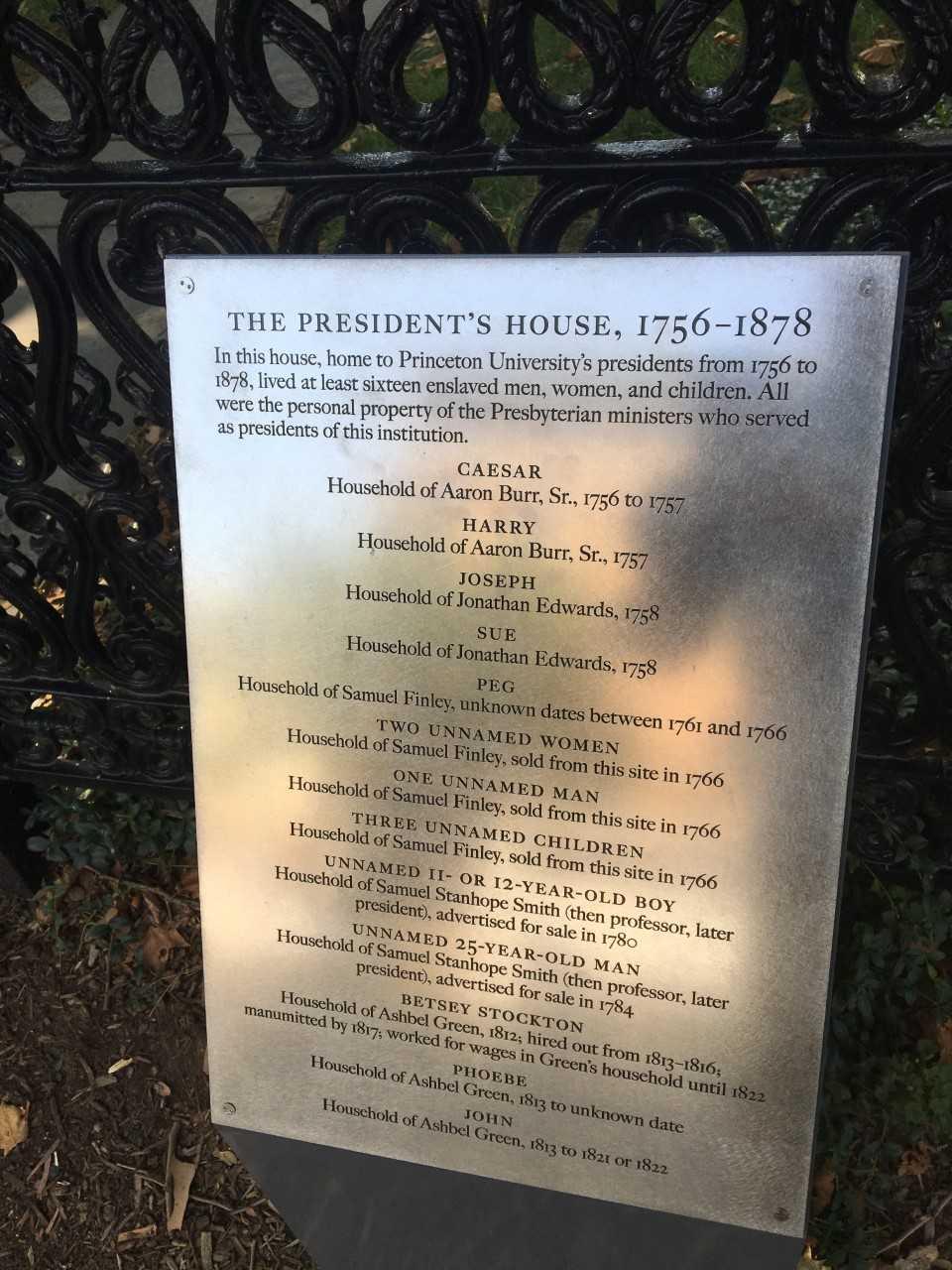Plaque at Princeton