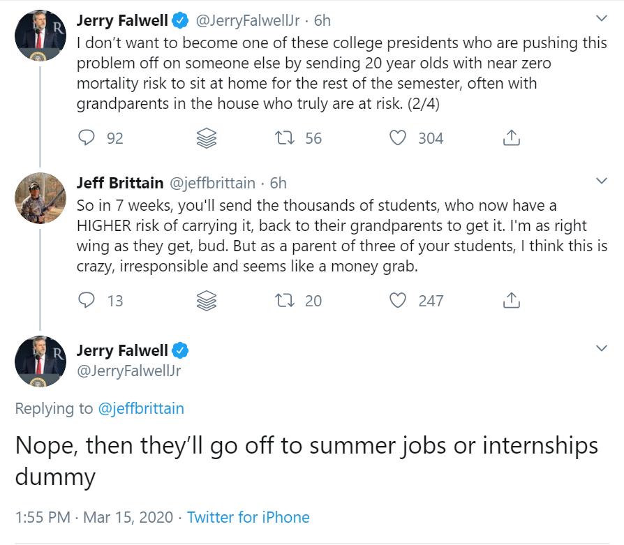 Falwell Jr. Corona