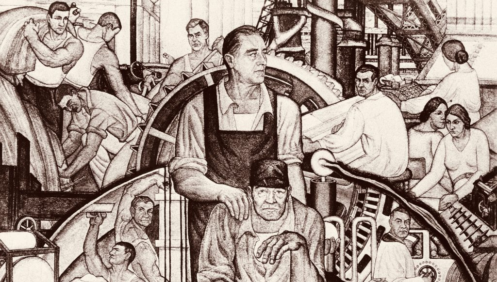 The New Deal, mural dedicated to President Roosevelt, by Conrad A. Albrizio, 1934